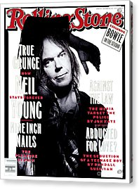 Rolling Stone Cover - Volume #648 - 1/21/1993 - Neil Young  Acrylic Print by Mark Seliger