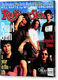 Rolling Stone Cover - Volume #668 - 10/28/1993 - Pearl Jam Acrylic Print by Mark Seliger