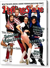 Rolling Stone Cover - Volume #774 - 12/11/1997 - Cast Of Saturday Night Live Acrylic Print