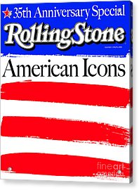 Rolling Stone Cover - Volume #922 - 5/15/2003 - American Icons Acrylic Print