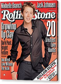 Rolling Stone Cover - Volume #926 - 7/10/2003 - Clay Aiken Acrylic Print