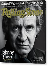 Rolling Stone Cover - Volume #933 - 10/16/2003 - Johnny Cash Acrylic Print