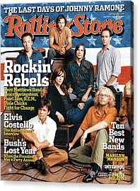 Rolling Stone Cover - Volume #959 - 10/14/2004 - Voices For Change Acrylic Print by Norman Jean Roy