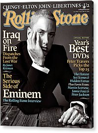 Rolling Stone Cover - Volume #962 - 11/25/2004 - Eminem Acrylic Print by Norman Jean Roy