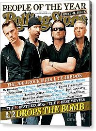 Rolling Stone Cover - Volume #965 - 12/30/2004 - U2 Acrylic Print