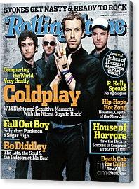 Rolling Stone Cover - Volume #981 - 8/25/2005 - Coldplay Acrylic Print by Anton Corbijn