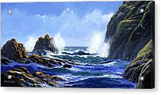 Rolling Surf Acrylic Print by Frank Wilson