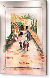 Acrylic Print featuring the painting Roman Avenue by Sharon Mick