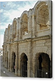 Acrylic Print featuring the photograph Roman Coliseum In Arles by Kirsten Giving