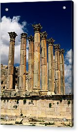 Roman Ruins At Jerash, Jordan Acrylic Print by Richard Nowitz
