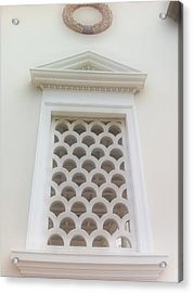 Roman Window Villa Acrylic Print by Paul Washington