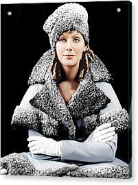 Romance, Greta Garbo, Portrait Acrylic Print by Everett