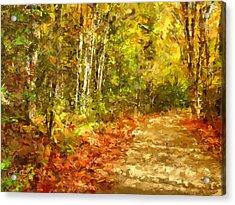 Romance In Autumn Acrylic Print by Georgiana Romanovna