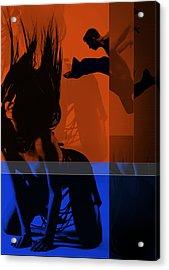 Romance Acrylic Print by Naxart Studio