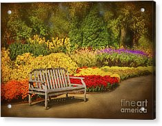 Romantic Flower Garden  Acrylic Print by Cheryl Davis