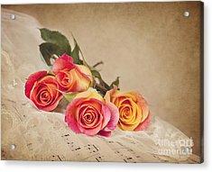 Acrylic Print featuring the photograph Romantic Music by Cheryl Davis