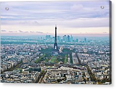 Romantic Paris Acrylic Print by Photo by Volanthevist