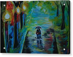 Acrylic Print featuring the painting Romantic Stroll Series II by Leslie Allen
