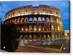 Rome Colosseum Dusk Acrylic Print by Axiom Photographic
