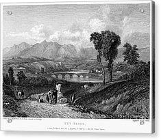 Rome: Milvian Bridge, 1833 Acrylic Print by Granger