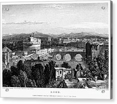 Rome: Scenic View, 1833 Acrylic Print by Granger