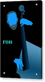Ron Carter Blue Acrylic Print