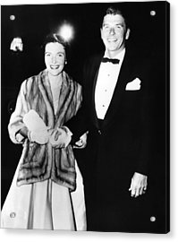 Ronald And Nancy Reagan Attended Acrylic Print by Everett