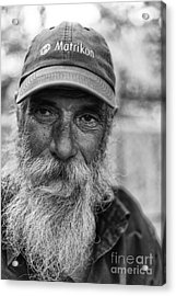 Ronald Acrylic Print by Darcy Evans