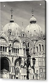 Roof And Facade Of St Mark Basilica  Acrylic Print by George Oze