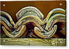 Roof Tiles Acrylic Print by Gwyn Newcombe