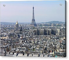Roofs Of Paris From The Notre Dame Acrylic Print by Romeo Reidl
