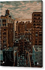 Rooftop Color 16 Acrylic Print by Scott Kelley