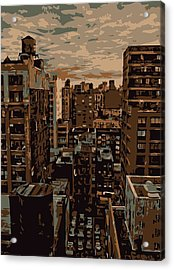 Rooftop Color 6 Acrylic Print by Scott Kelley