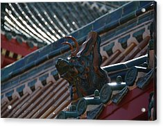 Rooftop Dragon Acrylic Print