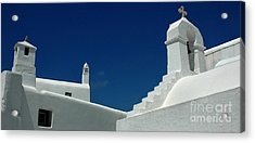 Rooftops Of Mykonos Acrylic Print by Vivian Christopher