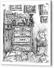 Room Study Acrylic Print by Elizabeth Carrozza