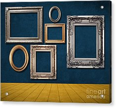 Room With Frames Acrylic Print by Atiketta Sangasaeng