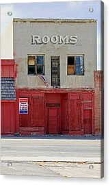 Rooms And A Beer Sign Acrylic Print by James Steele