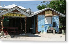 Rooster At Heritage Kitchen Acrylic Print by Peter Panagos
