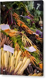 Root Vegetables At The Market Acrylic Print by Heather Applegate