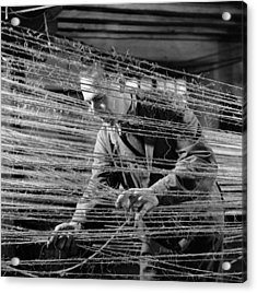Ropery Worker Acrylic Print by John Drysdale