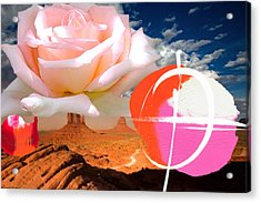 Rosa Desert Crucio Acrylic Print by Geronimo
