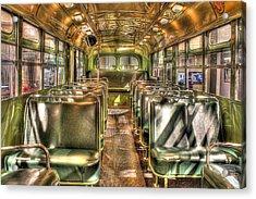 Rosa Parks Bus Inside Dearborn Mi Acrylic Print by Nicholas  Grunas