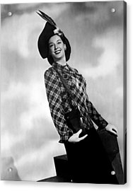 Rosalind Russell, Ca. Early 1940s Acrylic Print by Everett