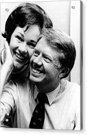 Rosalynn Carter And Jimmy Carter Watch Acrylic Print by Everett