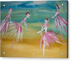 Rose Bud Ballet Acrylic Print by Judith Desrosiers