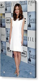 Rose Byrne Wearing A Calvin Klein Dress Acrylic Print by Everett