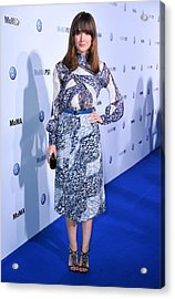 Rose Byrne Wearing A Dress By Peter Acrylic Print by Everett