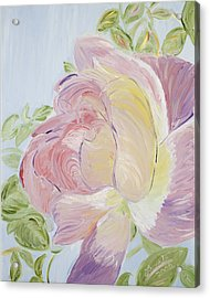 Rose Acrylic Print by Leona Bushman