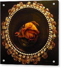 Rose Mandala Acrylic Print by Debra Jacobson